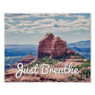 Just Breathe Sedona Background | Poster