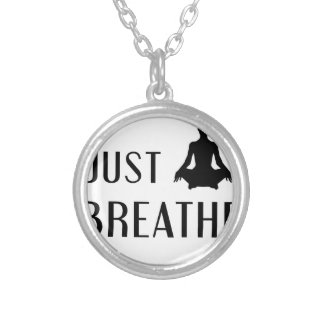 just Breathe Silver Plated Necklace