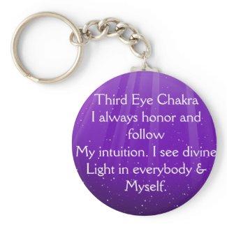 Just Breathe Third Eye Chakra Keychain