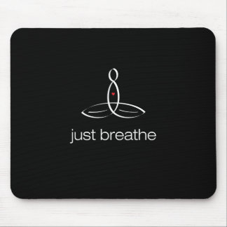 Just Breathe - White Regular style Mouse Pad