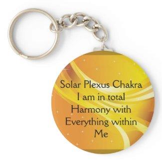 Just Breathe Yellow Keychain