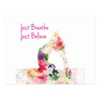 Just Breathe Yoga Series Postcard