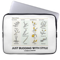 Just Budding With Style (Types Of Buds) Computer Sleeves