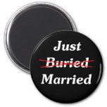 Just (Buried) Married Refrigerator Magnets