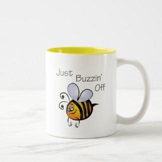 Just Buzzin Off black Two-Tone Coffee Mug