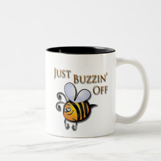 Just Buzzin Off brown Two-Tone Coffee Mug