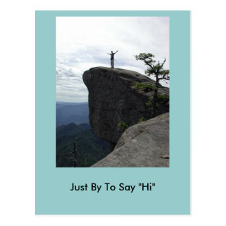 """Just By To Say """"Hi"""" Postcard"""