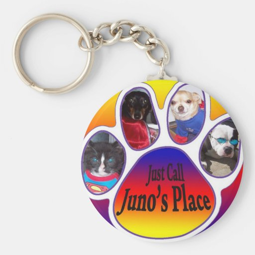 Just Call Juno's place key chain