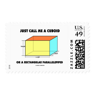 Just Call Me A Cuboid Rectangular Parallelepiped Stamp
