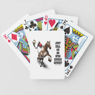 Just Call Me An Open Source Cowboy (Duke Java) Bicycle Playing Cards
