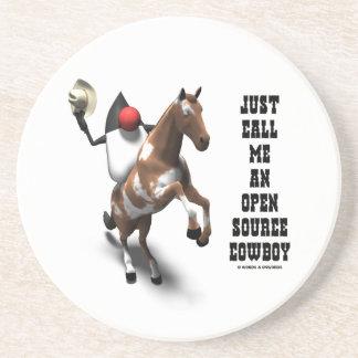 Just Call Me An Open Source Cowboy (Duke Java) Beverage Coaster