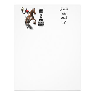 Just Call Me An Open Source Cowboy (Duke Java) Letterhead