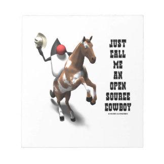 Just Call Me An Open Source Cowboy (Duke Java) Notepad