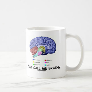 Just Call Me Brainy (Anatomical Brain Attitude) Coffee Mug
