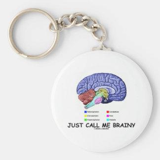 Just Call Me Brainy (Anatomical Brain Attitude) Keychain