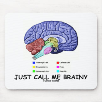Just Call Me Brainy (Anatomical Brain Attitude) Mouse Pad