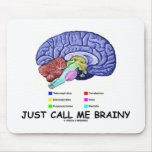 Just Call Me Brainy (Anatomical Brain Attitude) Mousepads