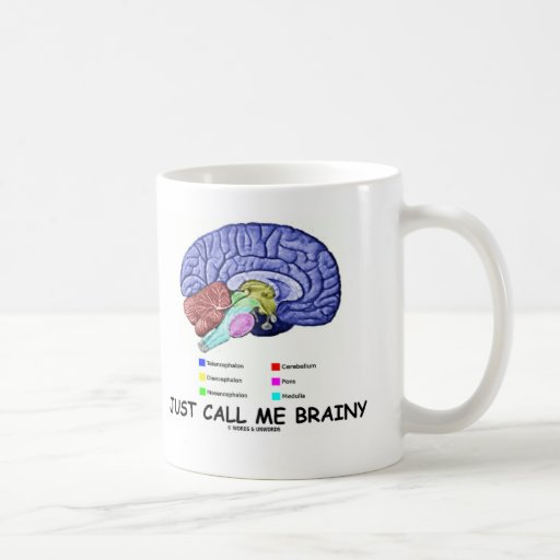 Just Call Me Brainy (Anatomical Brain Attitude) Mug