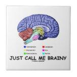 Just Call Me Brainy (Anatomical Brain Attitude) Ceramic Tiles