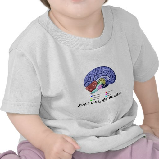 Just Call Me Brainy (Anatomical Brain Attitude) Tees