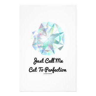 Just Call Me Cut To Perfection Diamond Stationery