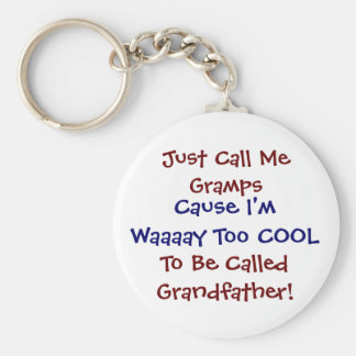 Just Call Me Grmaps Cool Grandfather Keychain