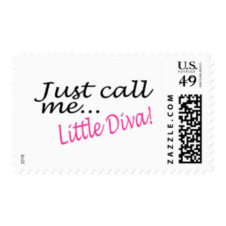 Just Call Me Little Diva Postage Stamp