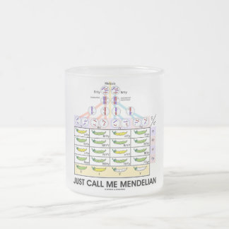 Just Call Me Mendelian (Punnett Square Genetics) 10 Oz Frosted Glass Coffee Mug