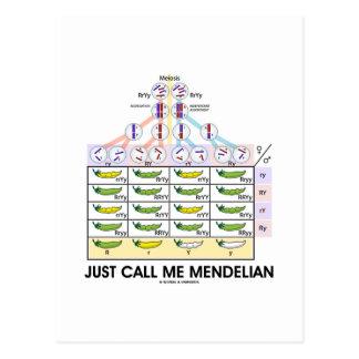 Just Call Me Mendelian Punnett Square Genetics Postcards