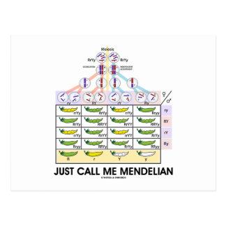 Just Call Me Mendelian Punnett Square Genetics Postcard