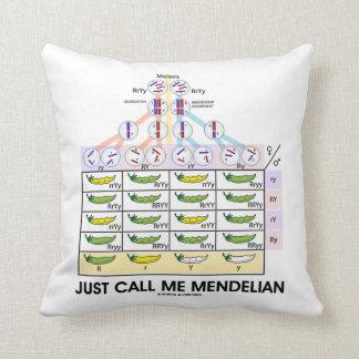Just Call Me Mendelian (Punnett Square Genetics) Throw Pillow