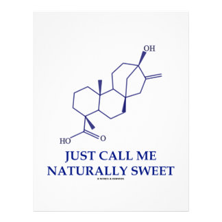 Just Call Me Naturally Sweet (Steviol) Letterhead Template