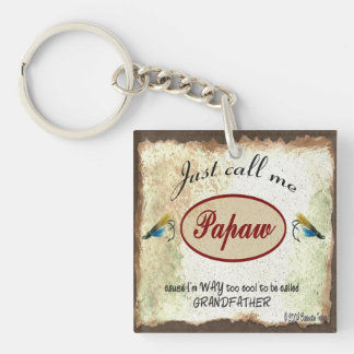 Just Call Me Papaw Fishing Lures Keychain