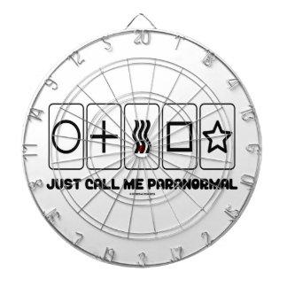 Just Call Me Paranormal (Zener Cards) Dartboard
