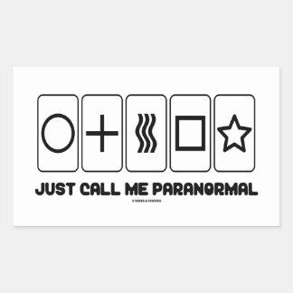 Just Call Me Paranormal (Zener Cards) Rectangular Sticker