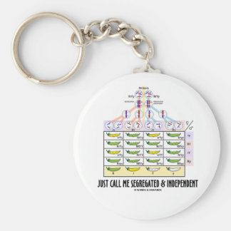 Just Call Me Segregated and Independent (Dihybrid) Basic Round Button Keychain