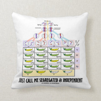 Just Call Me Segregated And Independent Dihybrid Pillow