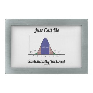 Just Call Me Statistically Inclined (Bell Curve) Rectangular Belt Buckle