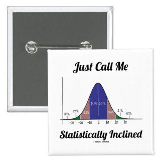 Just Call Me Statistically Inclined (Bell Curve) Pinback Button