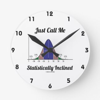 Just Call Me Statistically Inclined (Bell Curve) Wallclocks