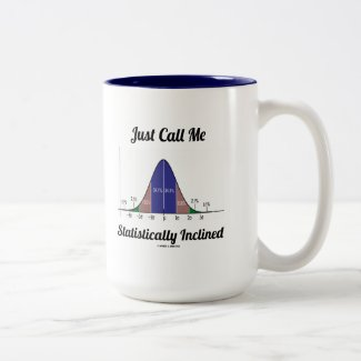 Just Call Me Statistically Inclined (Bell Curve) Coffee Mug