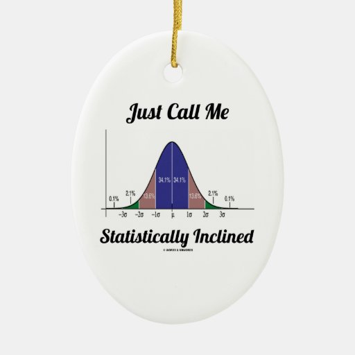 Just Call Me Statistically Inclined (Bell Curve) Christmas Ornaments