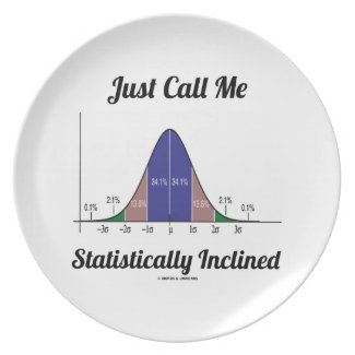 Just Call Me Statistically Inclined (Bell Curve) Dinner Plates