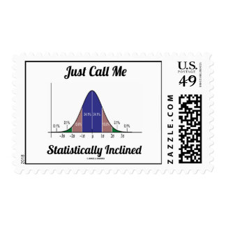 Just Call Me Statistically Inclined (Bell Curve) Postage