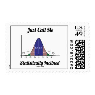 Just Call Me Statistically Inclined (Bell Curve) Stamps