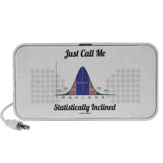 Just Call Me Statistically Inclined (Bell Curve) iPhone Speakers