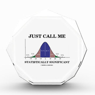 Just Call Me Statistically Significant Bell Curve Acrylic Award