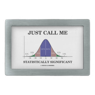 Just Call Me Statistically Significant Bell Curve Rectangular Belt Buckle