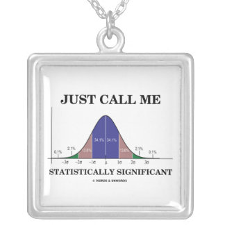 Just Call Me Statistically Significant Bell Curve Silver Plated Necklace