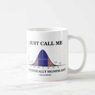 Just Call Me Statistically Significant Classic White Coffee Mug